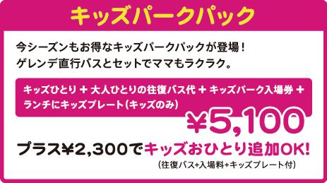バス(往復)+リフト1日券=4,800円!