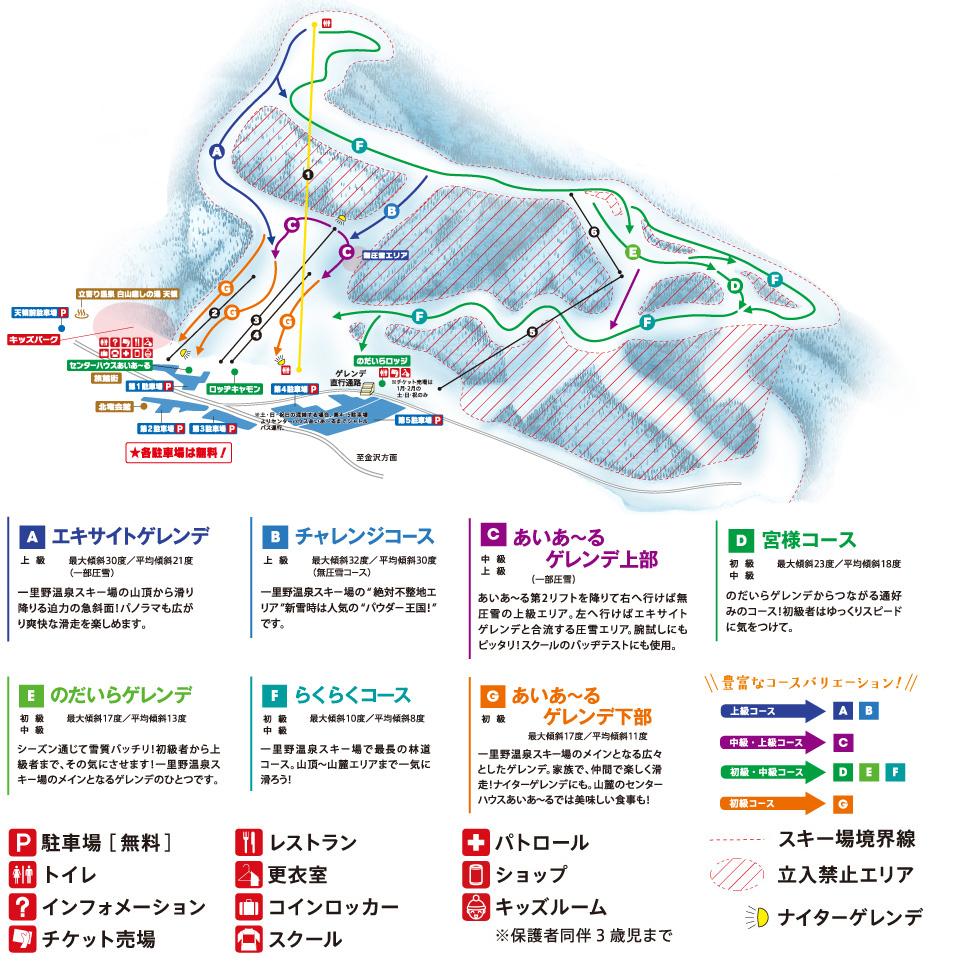 一里野コース